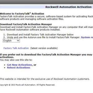 Rockwell Automation Transfer Registration Menu Item