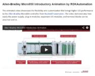 Micro800 on Youtube - Micro850 animation
