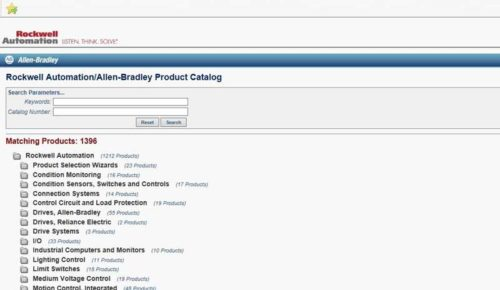 AB.com Product Catalog homepage