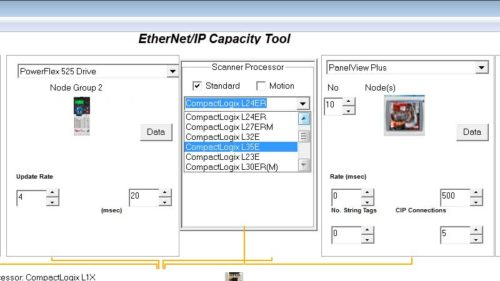 Using the EthernetIP Capacity Tool 16