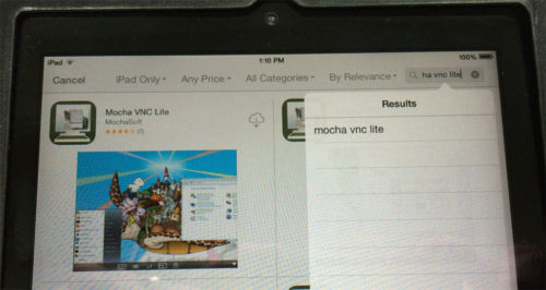 1 Apple iPad App Store - Mocha VNC Lite