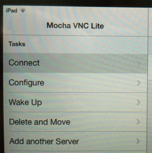 5 Mocha VNC Lite Connect to PVPlus