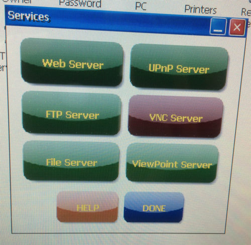 7 PanelView Plus 6 Control Panel Services Applet VNC Off