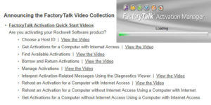 Rockwell FactoryTalk Activation Quick Start Video Featured Image