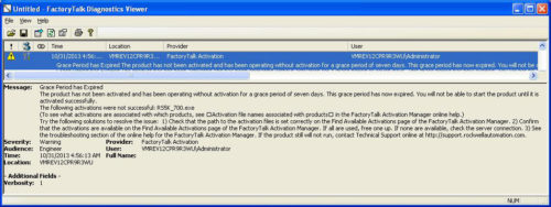 Rockwell Software Diagnostic Viewer 2