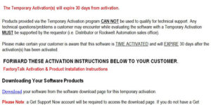 Rockwell Temporary Activation Email Featured Image
