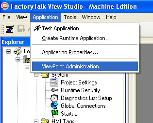 FactoryTalk ViewPoint Administration