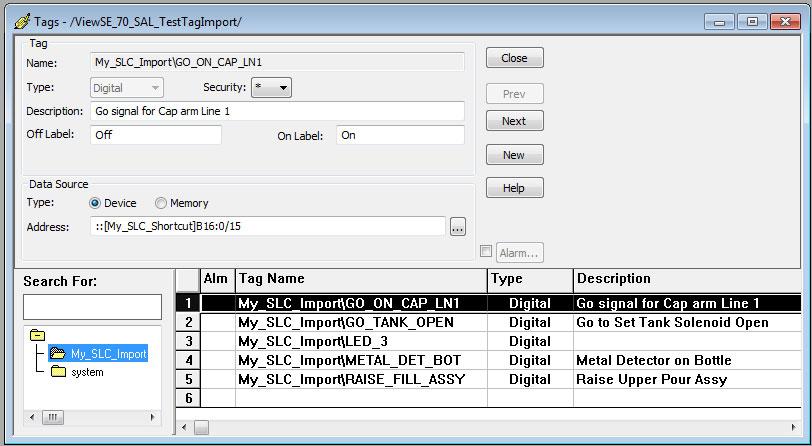 FactoryTalk ViewStudio Database Browser Step 6