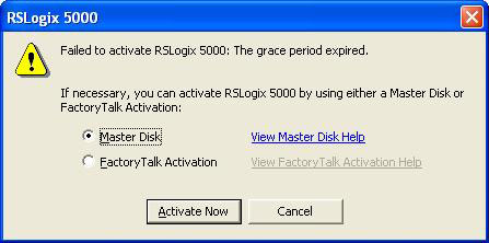 RSLogix 5000 Failed To Activate