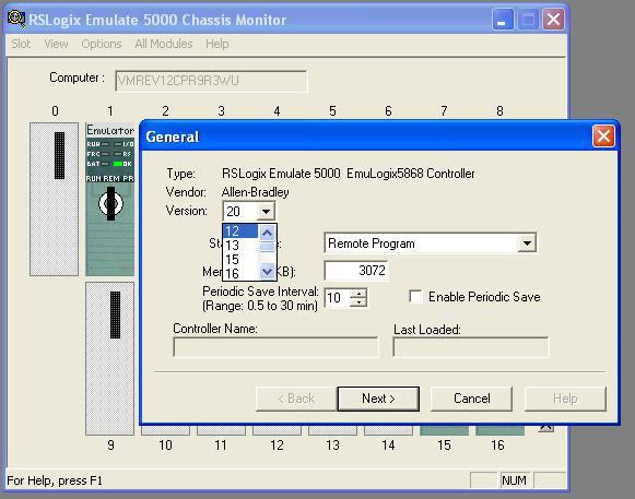 SoftLogix 5800 add processor to slot 1