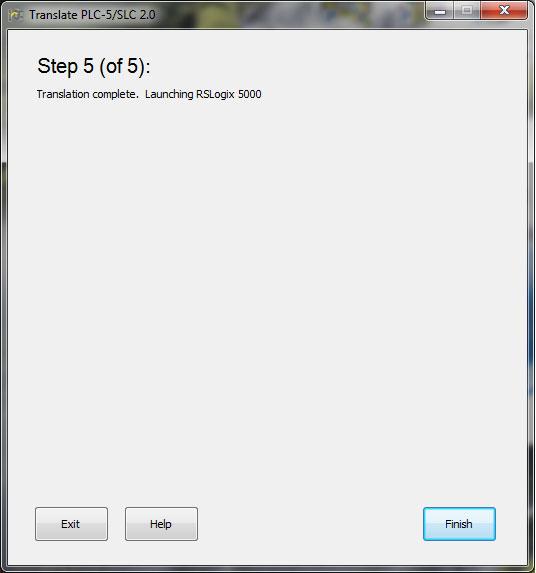 Translate PLC-5 SLC 2.0 Step 5