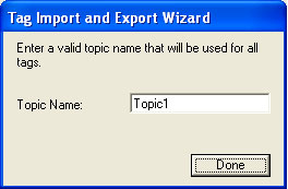 Tag Import and Export Wizard Step 7