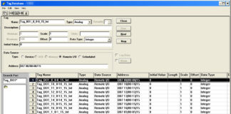 PanelBuilder 1400E Tag Database RIO Block Transfer Tags