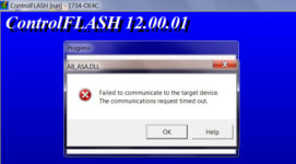Failed to flash 1734-OE4C step 2
