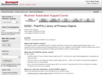 PlantPax Library of Process Objects Knowledgebase Document