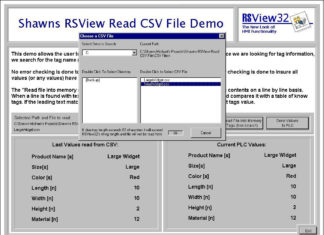 RSView32 Read CSV File Demo