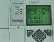 MicroLogix-1100-LCD-DCOMM-Menu-Enable-Selected