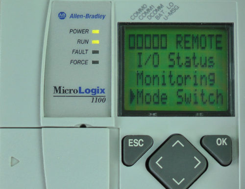MicroLogix-1100-LCD-Menu-Mode-Switch-Sel