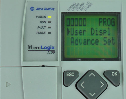 MicroLogix-1100-LCD-Mode-Switch-Menu-Program Selected-in-Program