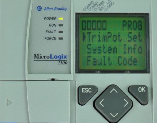 MicroLogix-1100-LCD-TrimPot-Menu