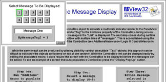 rsview32 simple message display