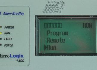 MicroLogix-1400-LCD-Mode-Menu-Run-Sel-Running