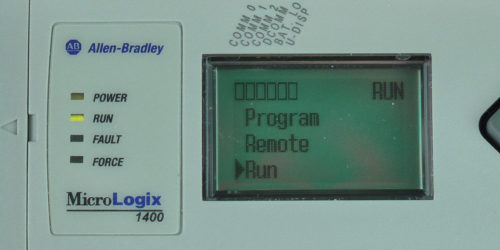 MicroLogix-1400-LCD-Mode-Menu-Run-Sel-Running