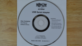 Tripp Lite Keyspan USB to Serial Driver CD