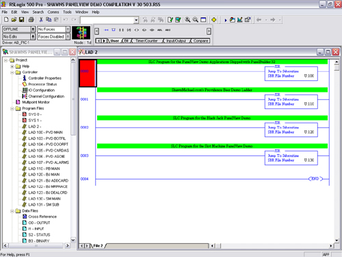 RSLogix 500 Program for PanelView Demo Compilation