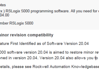 RSLogix 5000 20.04 Release Notes