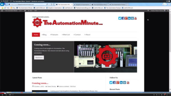 Episode 01 from Season 1 of The Automation Minute